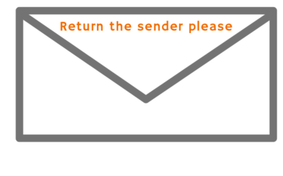 Die ene witte envelope.