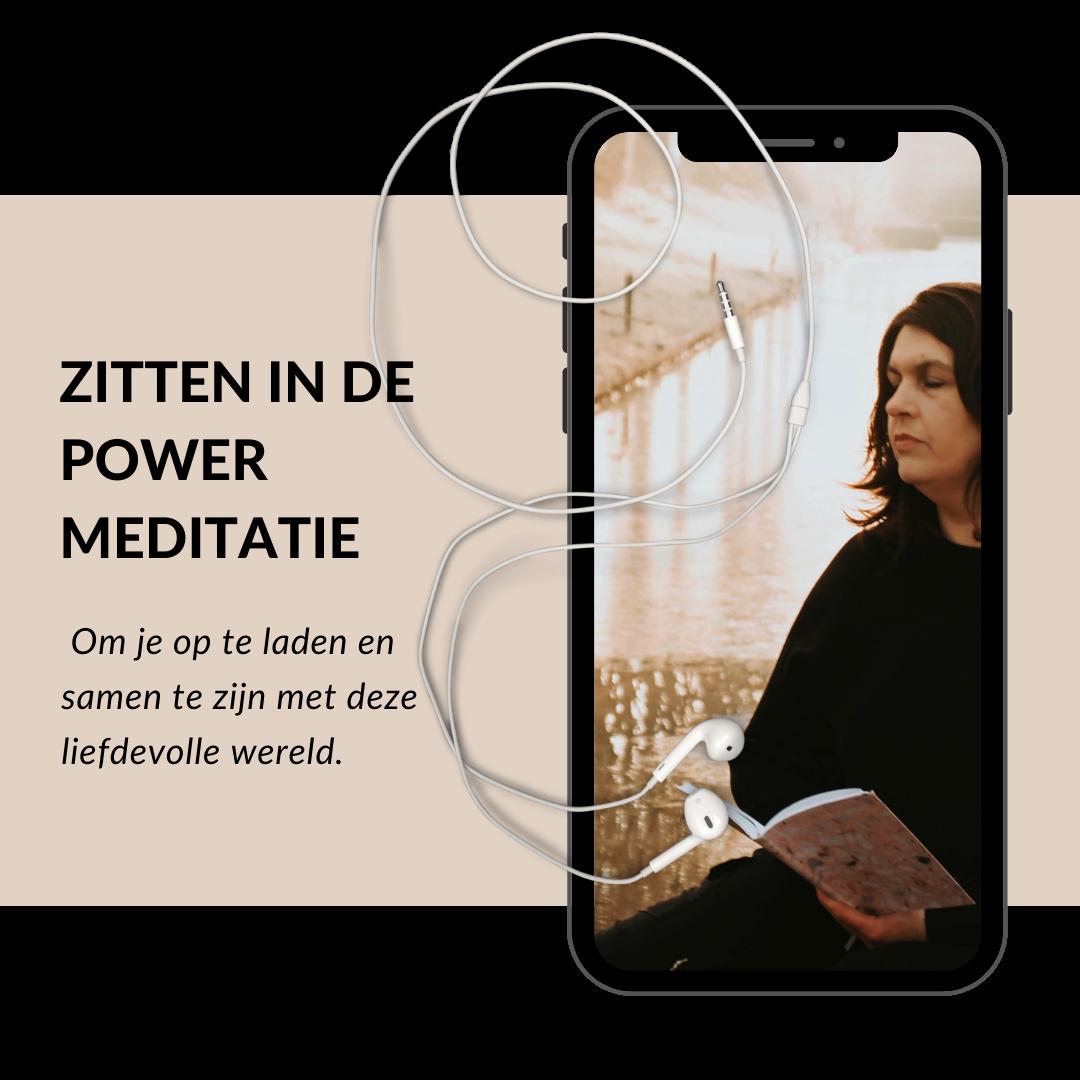 Zitten in de power meditatie